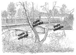 paysage style gravure