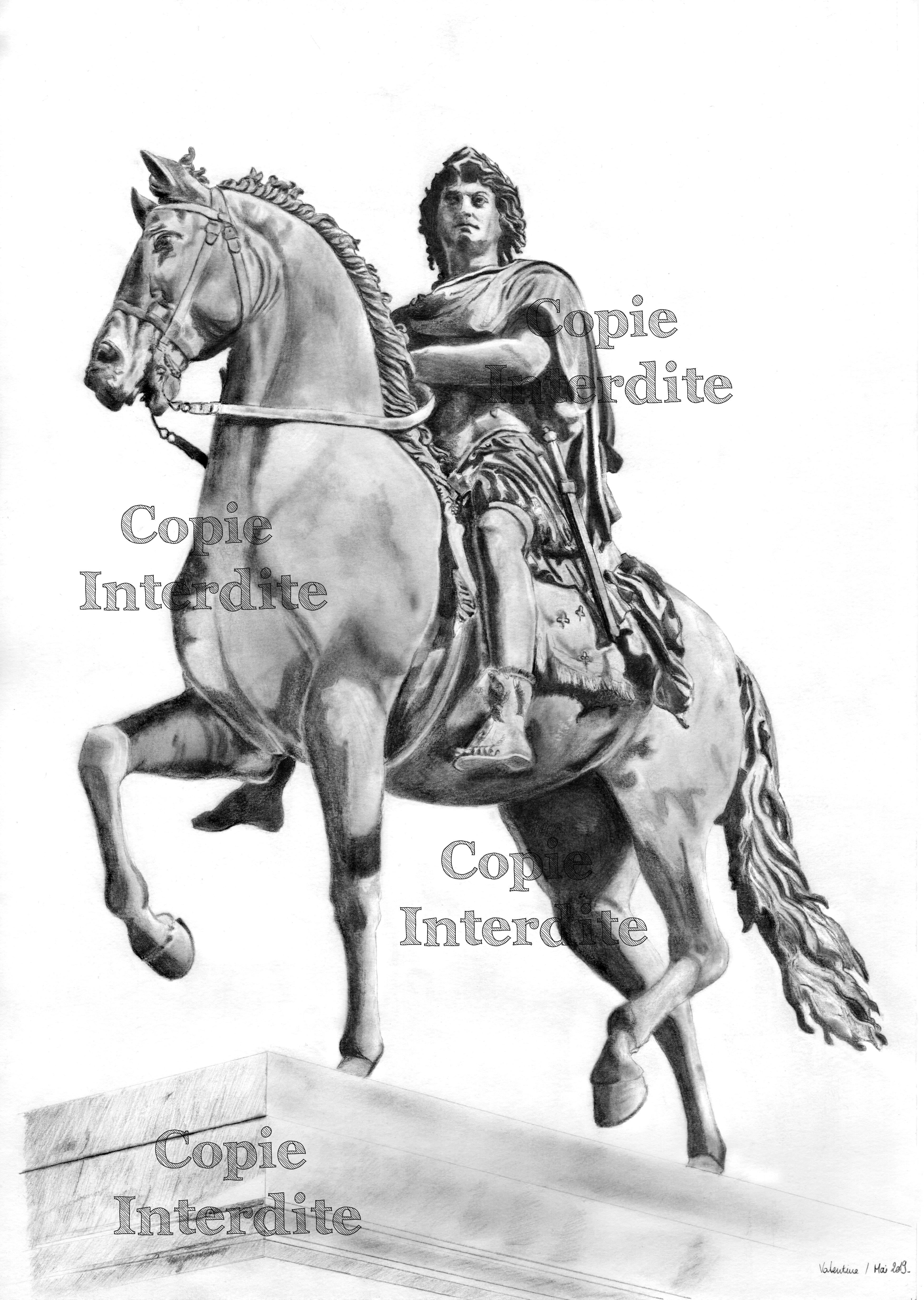 Statue équestre Lyon