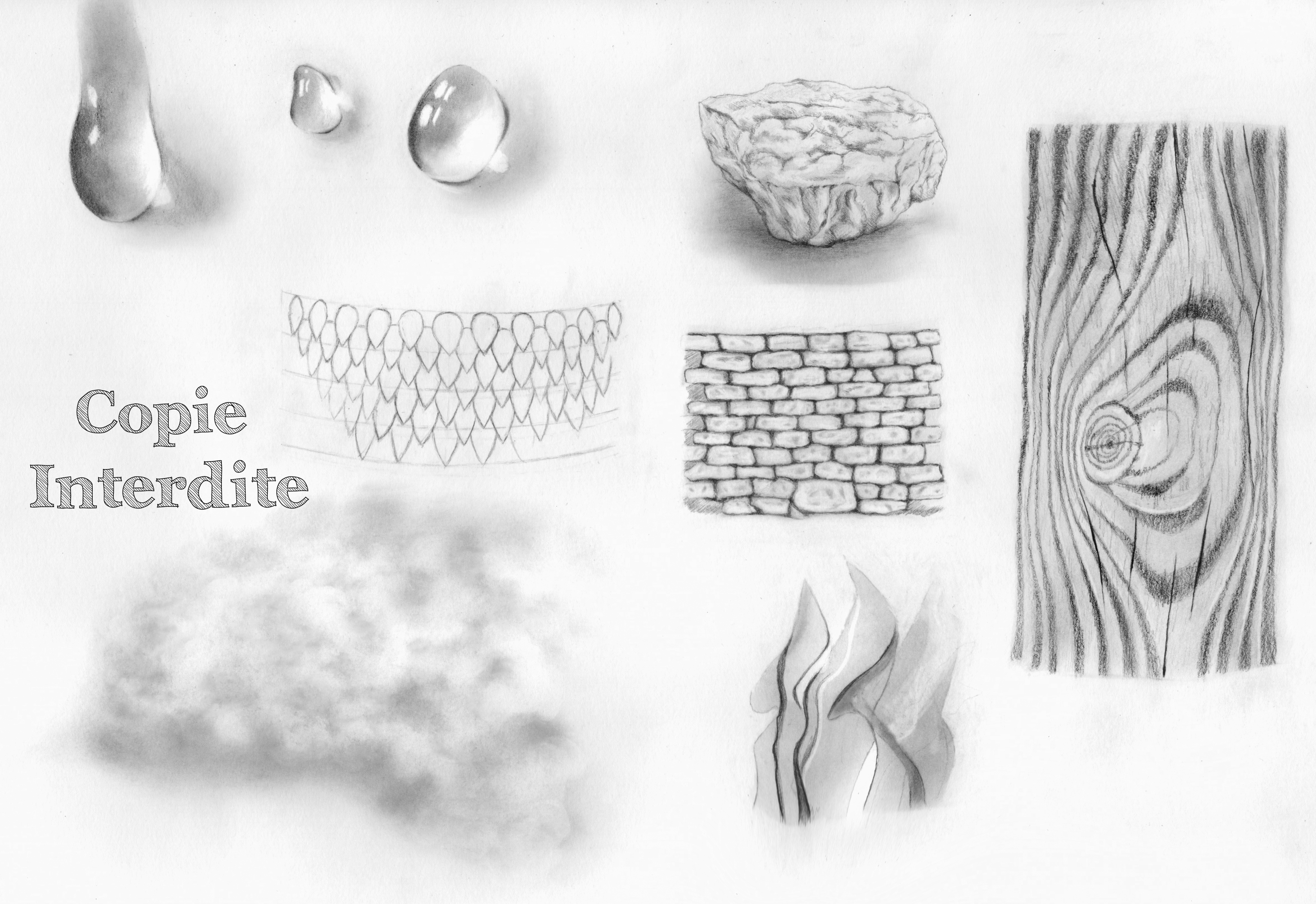 différentes textures
