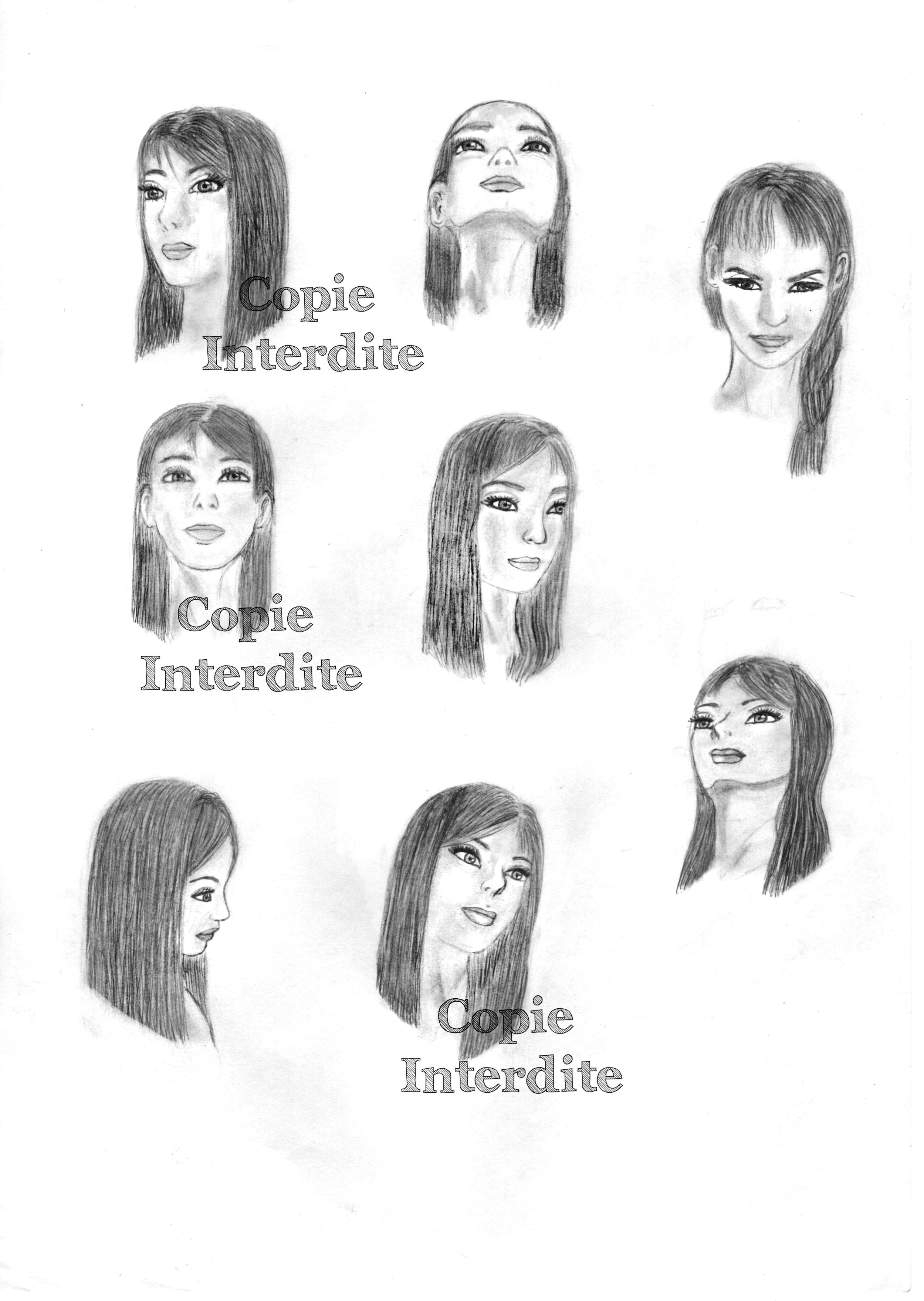 Etude orientation visages