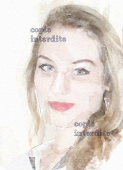 """portrait """"aquarelle"""""""