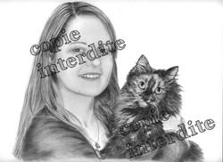 portrait avec chat