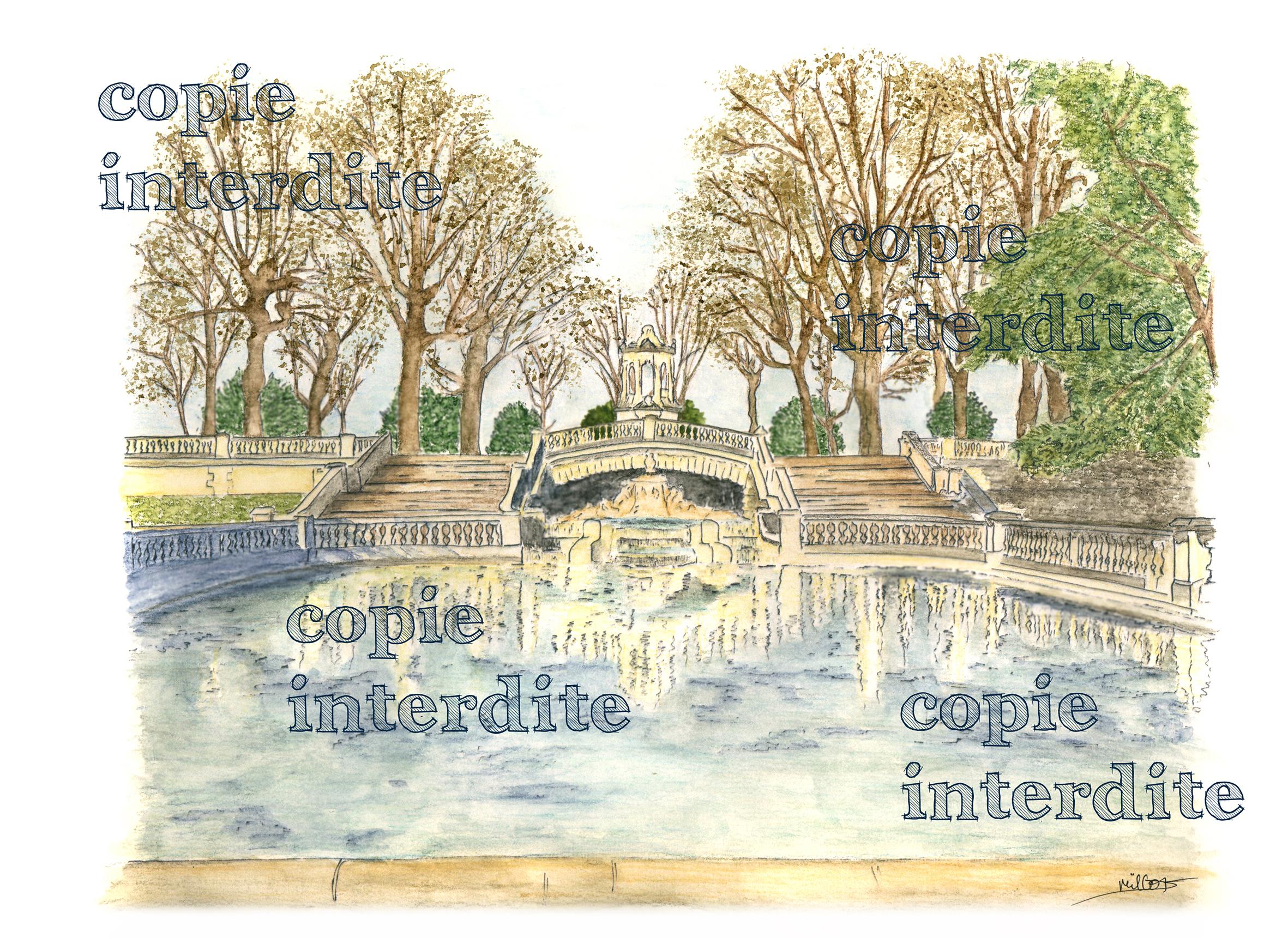 Jardin Darcy en hiver
