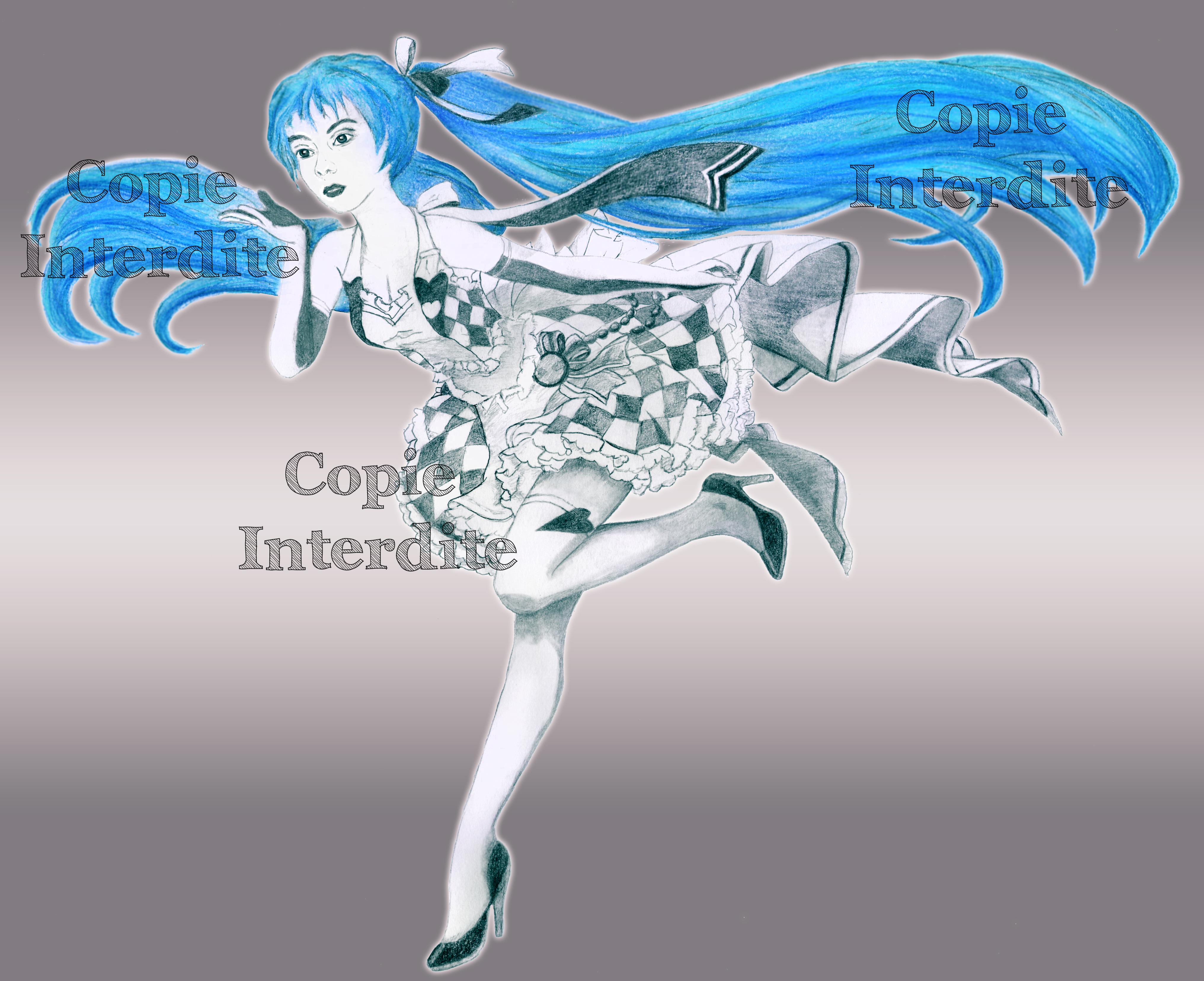 La fille bleue