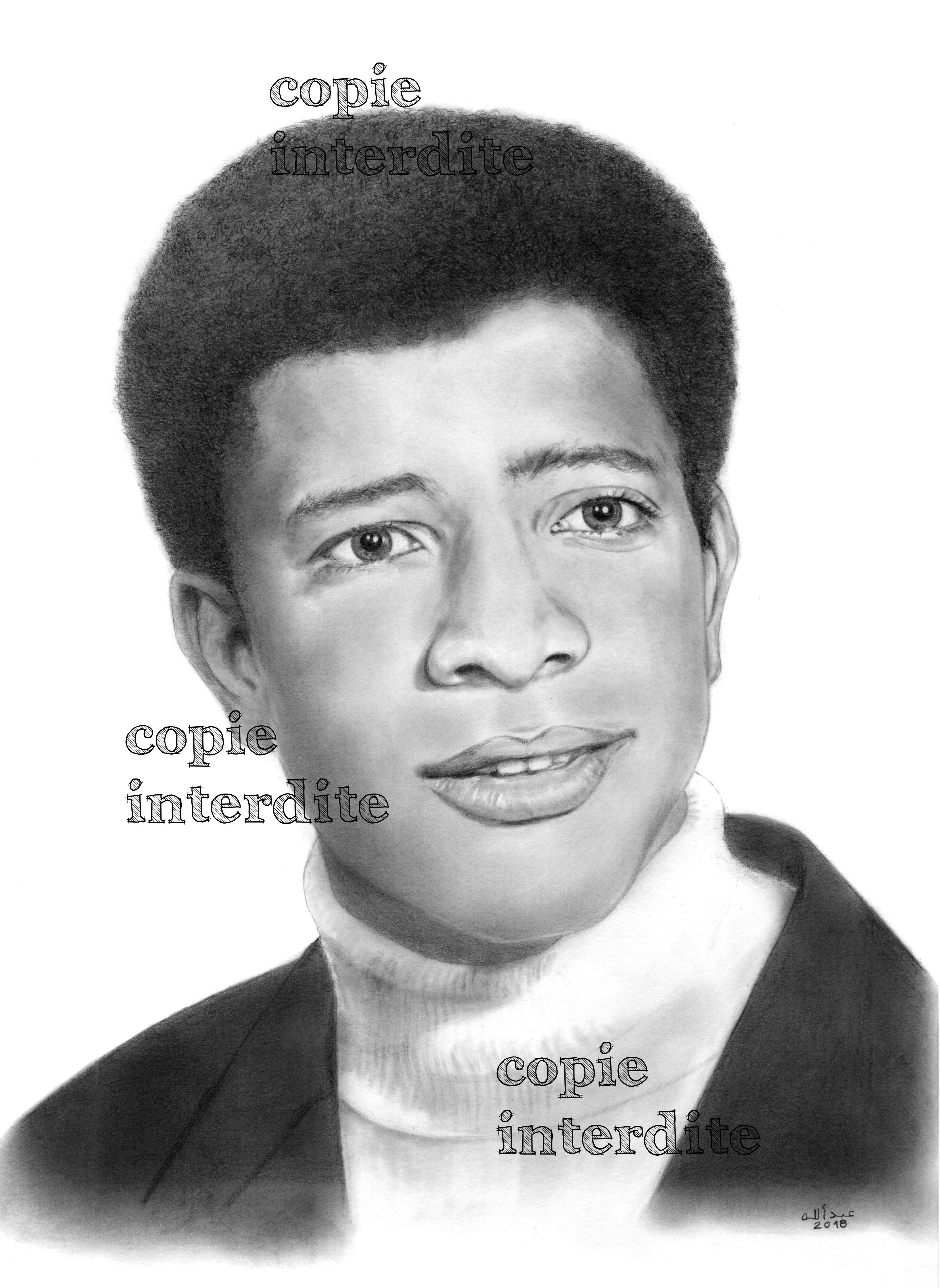 Portrait d'après photo 1971