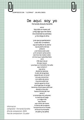 De Aquí Soy Yo - Fernando Gordillo
