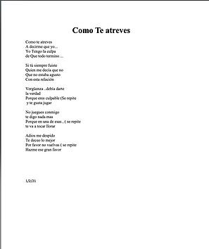 Como Te Atreves - Cesar Reynaga