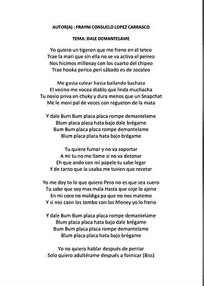 Desmantélame - Frayni Consuelo Carrasco López
