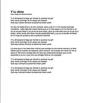 Y Tu Dime - Diego Iván Ramírez Ramos