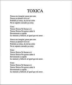 Tóxica - Daniel Nuñez