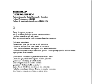 Help - Alexander Rafael Hernández González