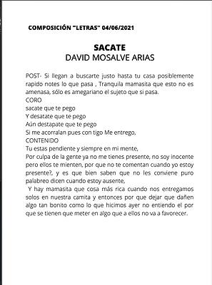 Sacate - David Monsalve Arias