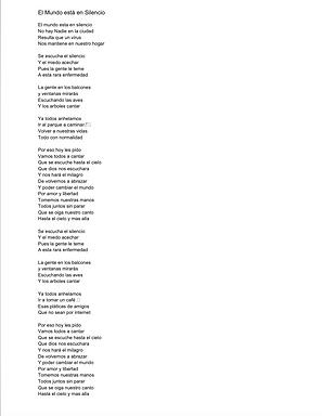 El Mundo Está En Silencio -  Cesar Reynaga