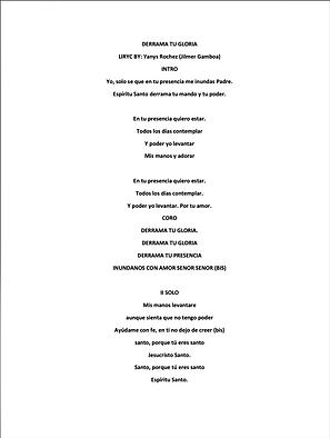Derrama Tu Gloria - Yanys Rochez