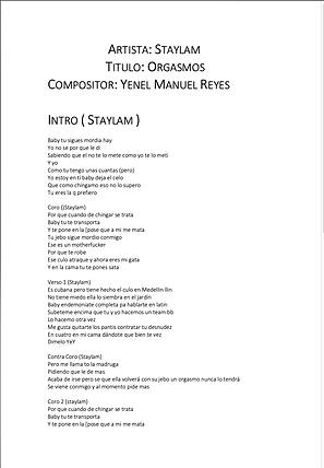 Orgasmos - Yenel Manuel Reyes