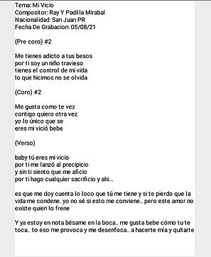 Mi Vicio - Ray Yomar Padilla Mirabal
