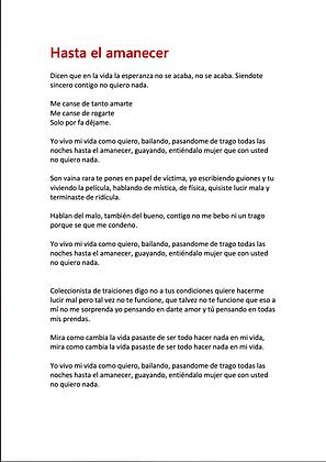 Hasta El Amanecer - Starlin M. Lovera Carela