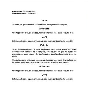 Te Extraño - Eduar González