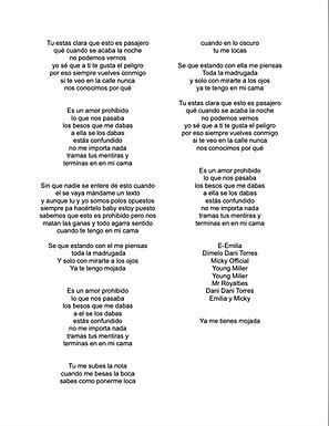 Amor Prohibido - María Emilia Bonapace / Luis Miguel Merelles Alvarez / Gabriel Orlando Rojas Ramírez / Hector Eduardo Guzmán Méndez / Daniel Eduardo Castellanos Torres