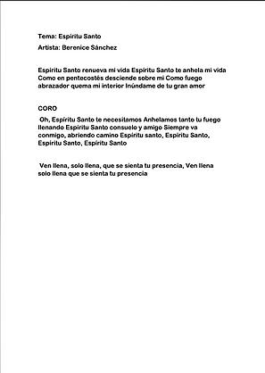 Espíritu Santo - Berenice Sánchez