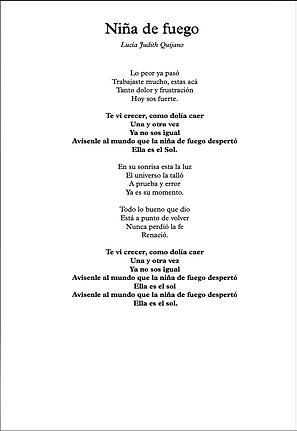 Niña De Fuego - Lucia Judith Quijano