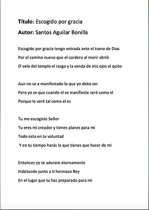Escogido Por Gracia - Santos Aguilar Bonilla
