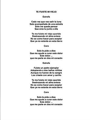 Te Fuiste Mi Viejo - David Espinoza / Emmanuel Salvatierra