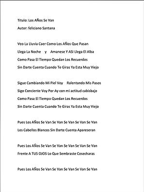 Los Años Se Van - Hector Julio Lázaro Puello / Feliciano Santana