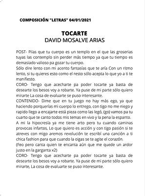 Tocarte - David Monsalve Arias