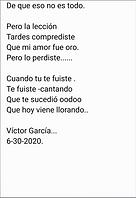 A Que Volviste - Victor García