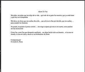 Ahora Te Vas - Everardo E. Pérez