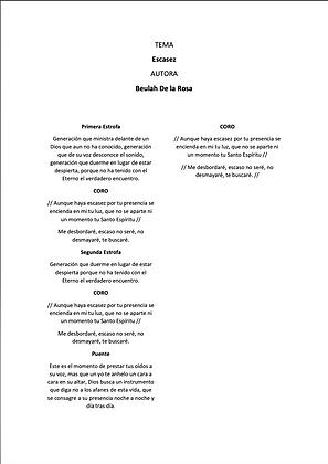 Escasez - Beulah De La Rosa