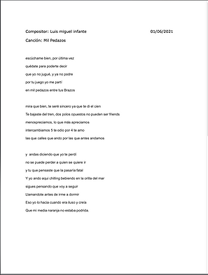Mil Pedazos - Luis Miguel Infante / Ryan Anderson