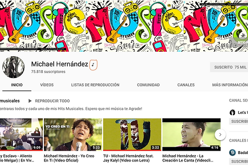Solicita un canal oficial de artista en Youtube