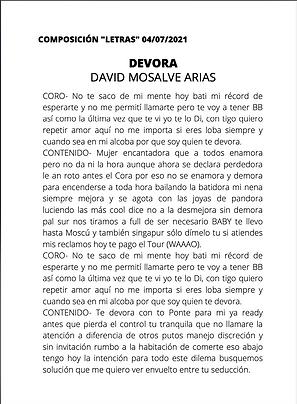Devora - David Monsalve Arias