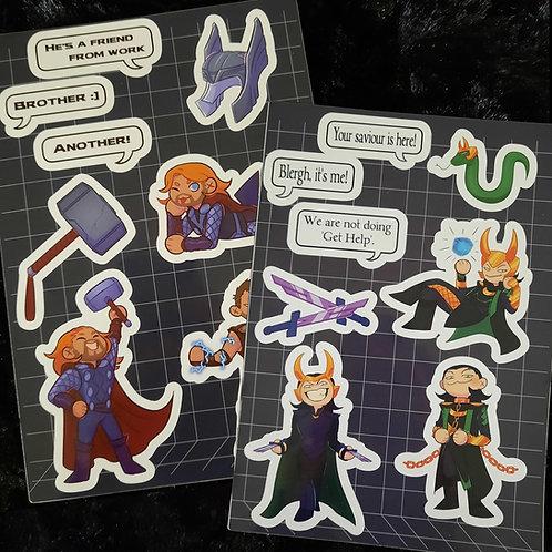 Thor & Loki Sticker Sheets