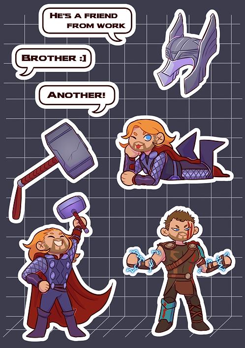 Thor Sticker Sheet