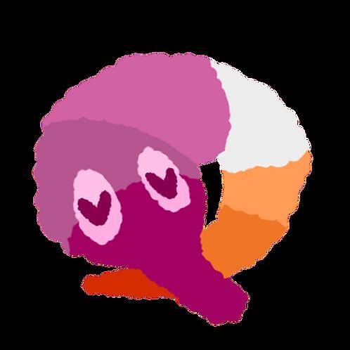 Lesbian Wormie Sticker