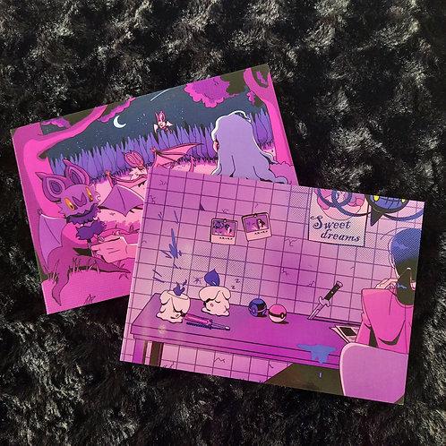 Litwick & Noibat - Pokemon Prints