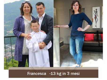 Francesca perde 13kg in 3 mesi nel Centro Fisico di Trissino
