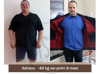 Adriano - Storie vere dimagrimento - Centro Fisico   Prima e Dopo