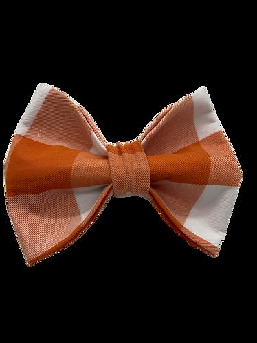 Orange Plaid Bow