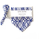 Thumbnail: Blue and White Bandana and Matching Hair Tie