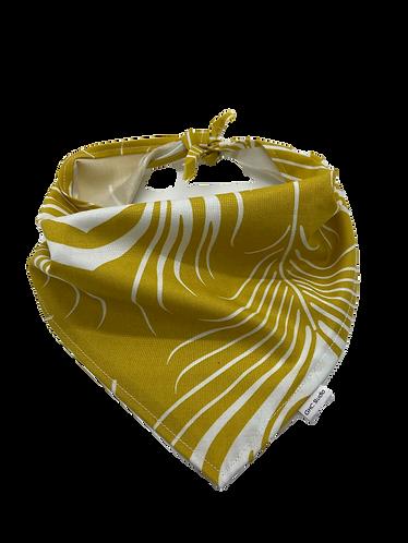 Gold & White Bandana