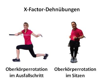 X-Factor Golf Fitnessübungen