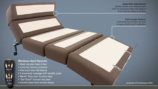 contempory adjustable bed
