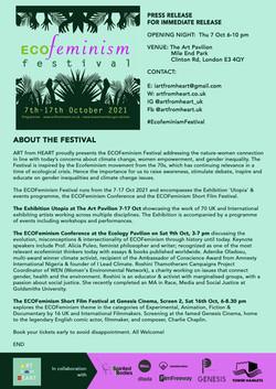 ECOFeminism Festival Press Release