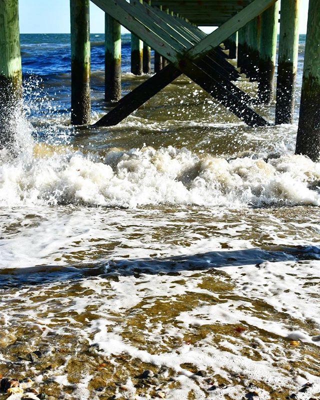 Seafoam under the Pier
