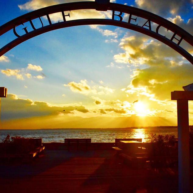 Golden Gulf Beach Sunset