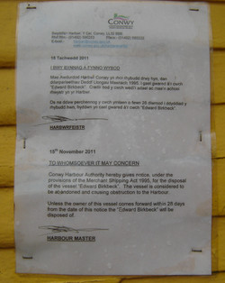 Harbour Master's Disposal Notice